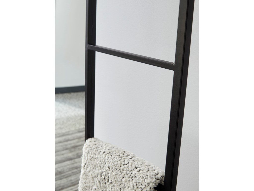 Signature Design by Ashley Accent MirrorsDenice Black Floor Mirror