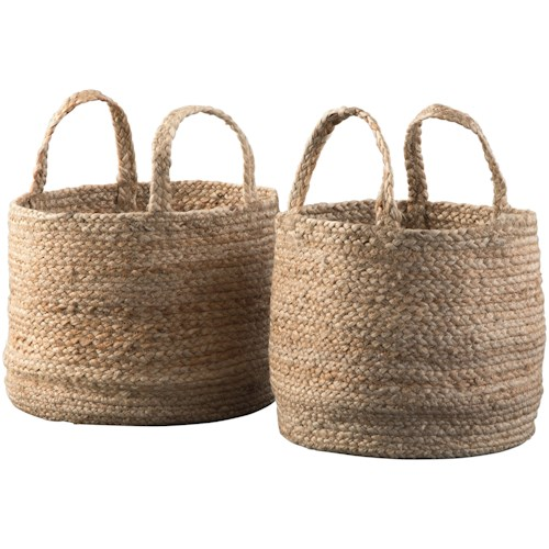 Signature Design by Ashley Accents Brayton Natural Basket Set