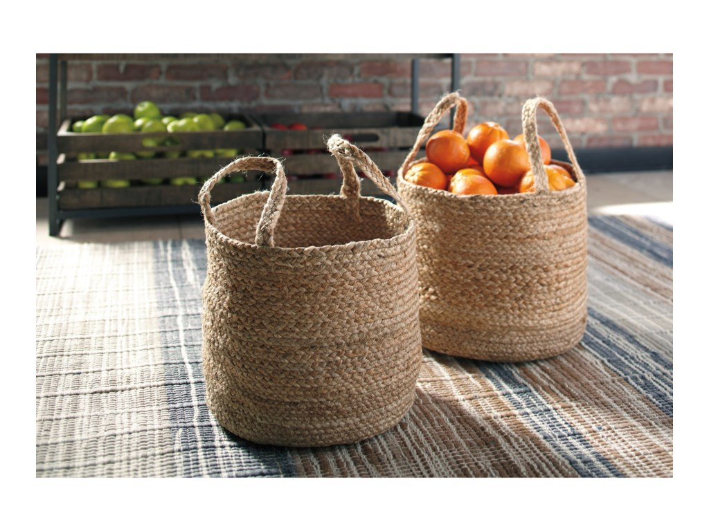 Signature Design AccentsBrayton Natural Basket Set