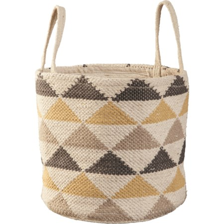 Eirian Cream/Gray/Yellow Basket