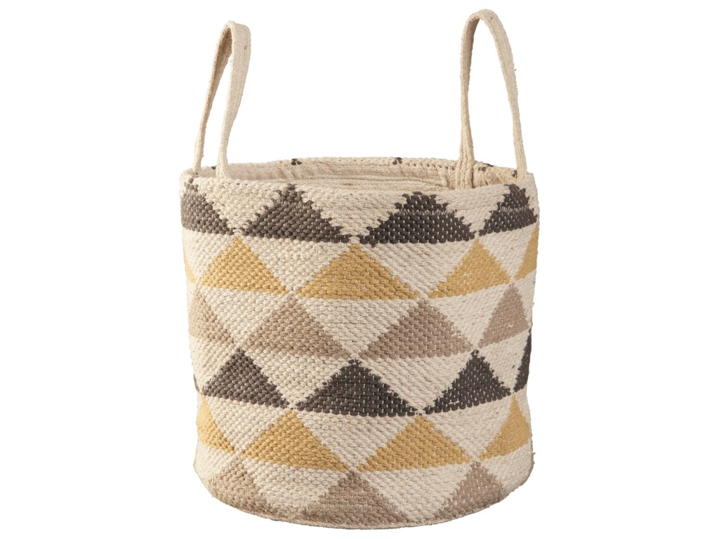 Ashley Signature Design AccentsEirian Cream/Gray/Yellow Basket
