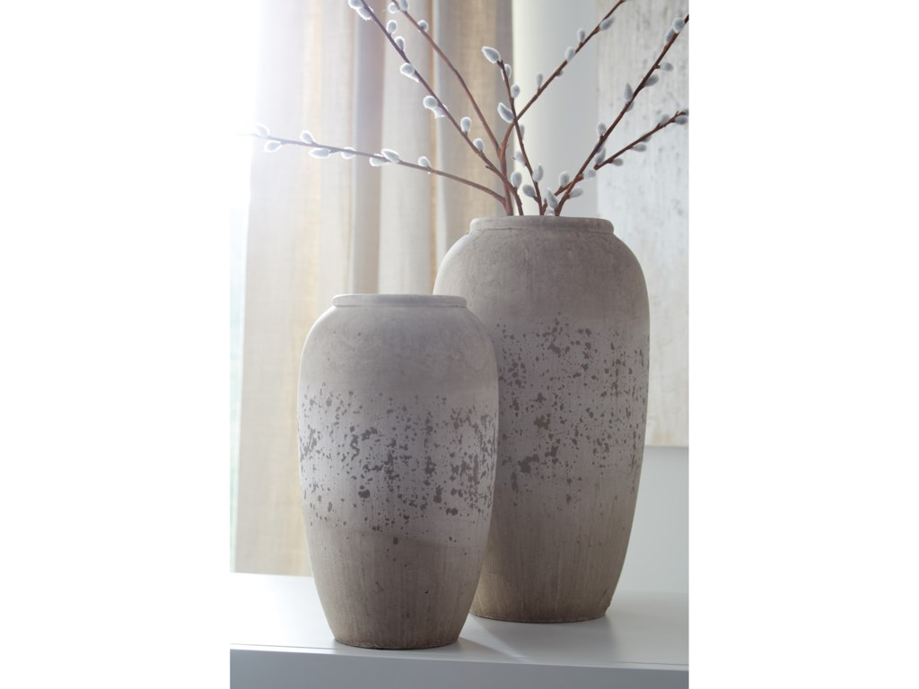 Ashley (Signature Design) AccentsDimitra Brown/Cream Vase Set