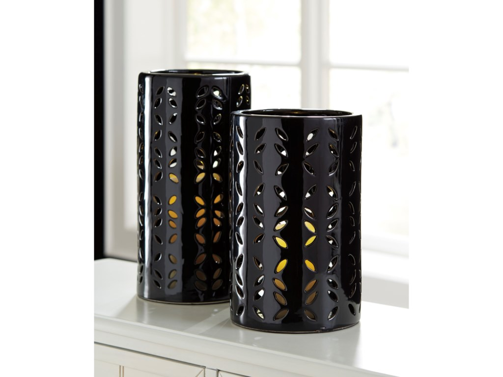 Signature Design AccentsMizuki Black Vase Set