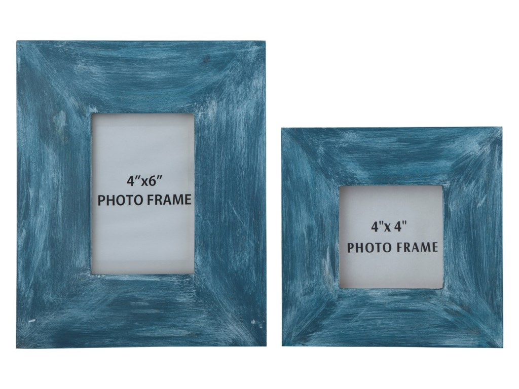 Signature Design by Ashley AccentsBaeddan Antique Blue Photo Frames (Set of 2)
