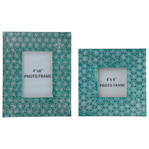 Signature Design by Ashley Accents Bansi - Teal Photo Frames (Set of 2)