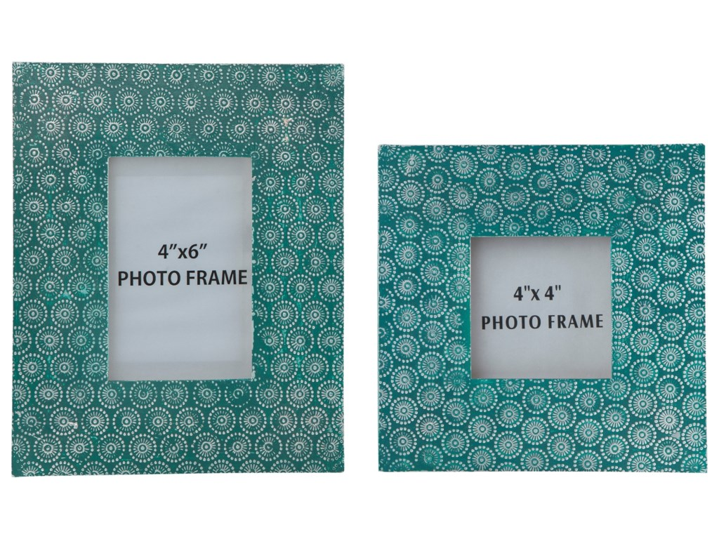 Signature Design by Ashley AccentsBansi - Teal Photo Frames (Set of 2)