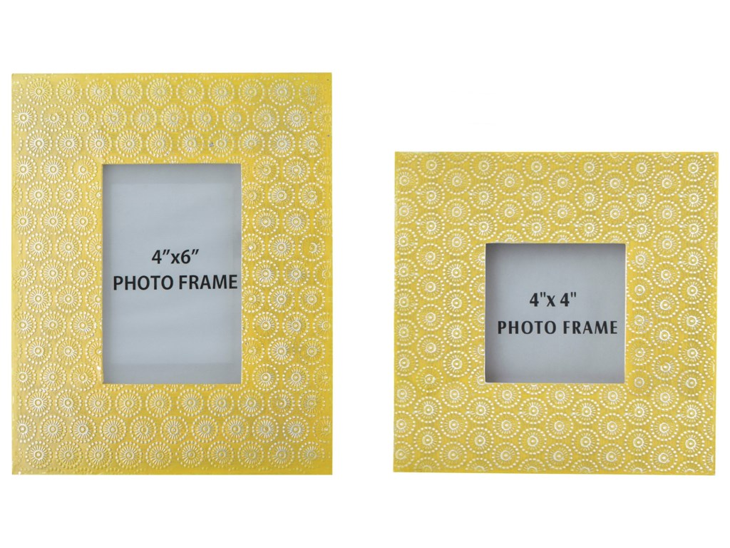 Ashley (Signature Design) AccentsBansi - Yellow Photo Frames (Set of 2)