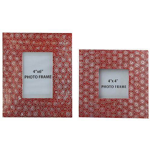 Signature Design by Ashley Accents Bansi - Orange Photo Frames (Set of 2)