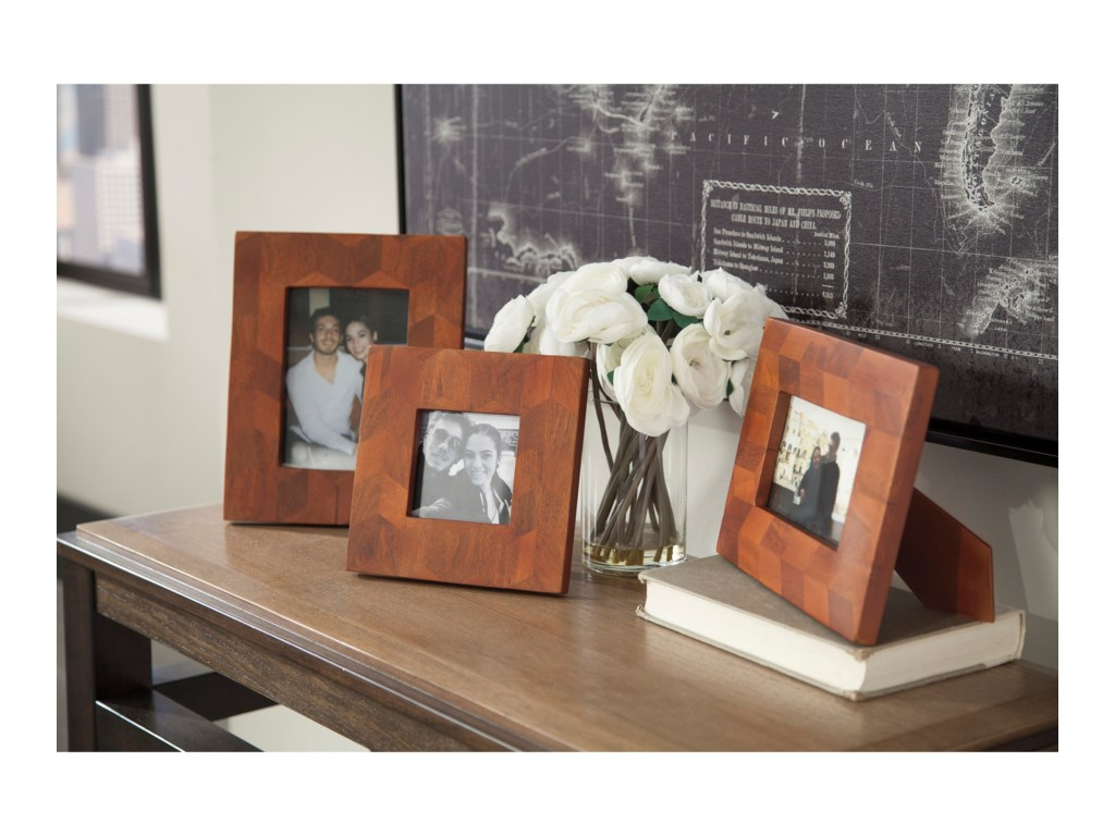 Signature Design by Ashley AccentsKabecka Brown Photo Frames (Set of 3)