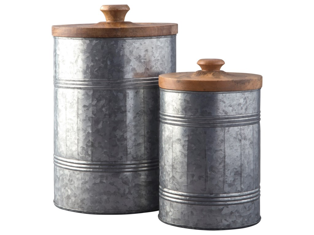 Ashley Signature Design AccentsDivakar Antique Gray Jar Set