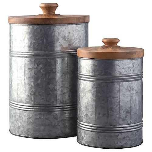 Signature Design by Ashley Accents Divakar Antique Gray Jar Set