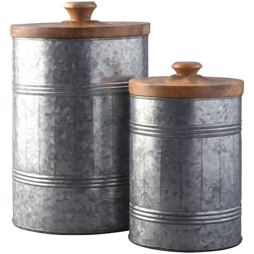 Signature Design by Ashley Accents Divakar Antique Gray Jar Set