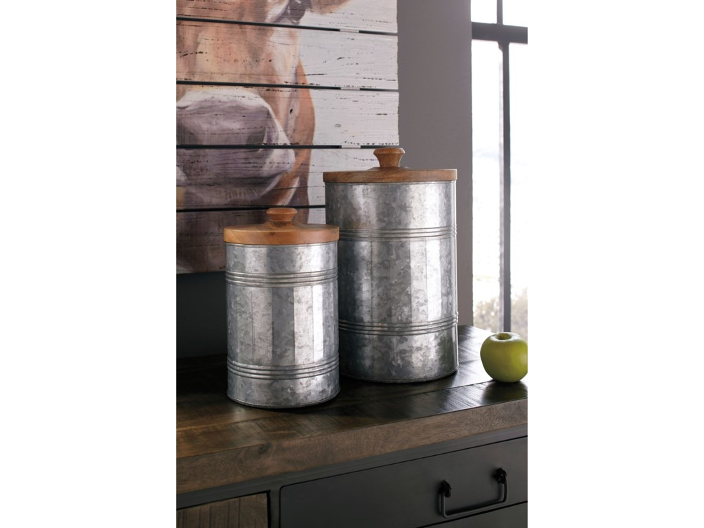 Signature Design by Ashley AccentsDivakar Antique Gray Jar Set