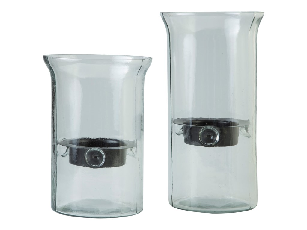 Signature Design by Ashley AccentsKadeem Clear Candle Holders (Set of 2)