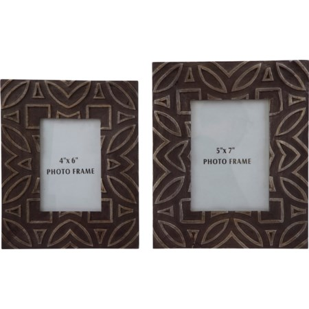 Marquise Antique Black Photo Frame, Set of 2