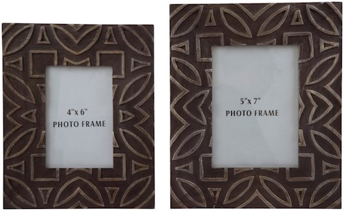 Signature Design by Ashley Accents Marquise Antique Black Photo Frame, Set of 2