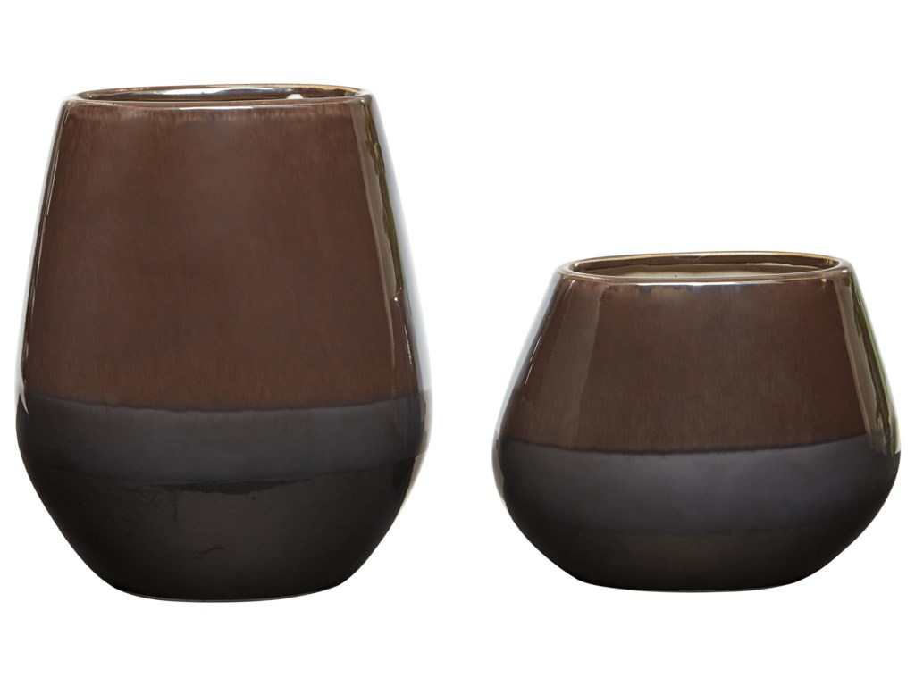 Ashley Signature Design AccentsEmiliano Taupe Vase Set