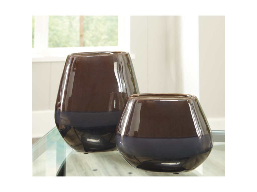 Signature Design AccentsEmiliano Taupe Vase Set