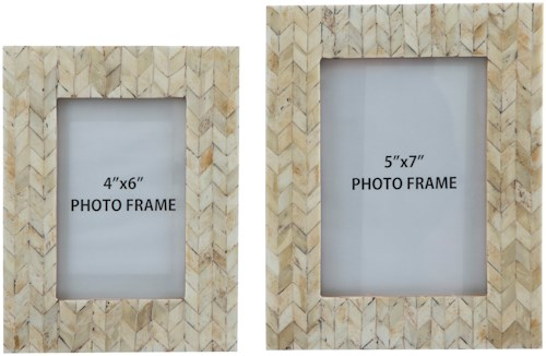 Signature Design by Ashley Accents Kase Cream Photo Frames (Set of 2)