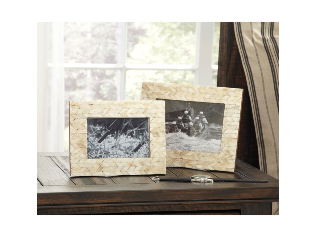 Signature Design by Ashley AccentsKase Cream Photo Frames (Set of 2)