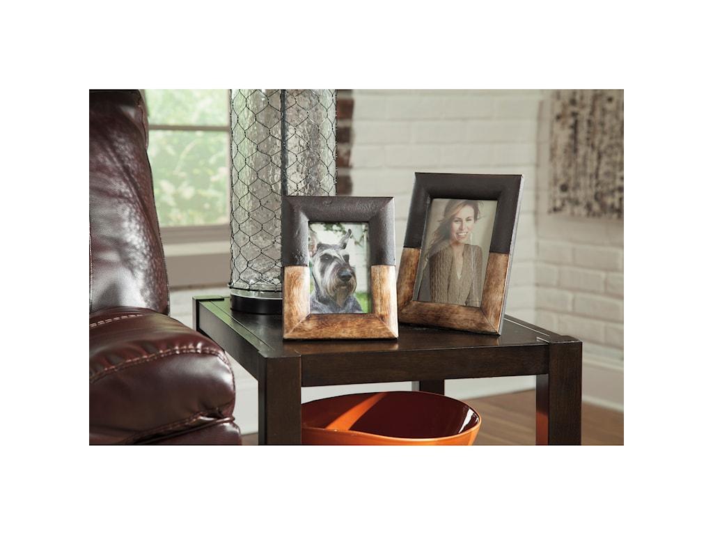 Ashley (Signature Design) AccentsMichi Bronze Finish/Wood Photo Frames Set