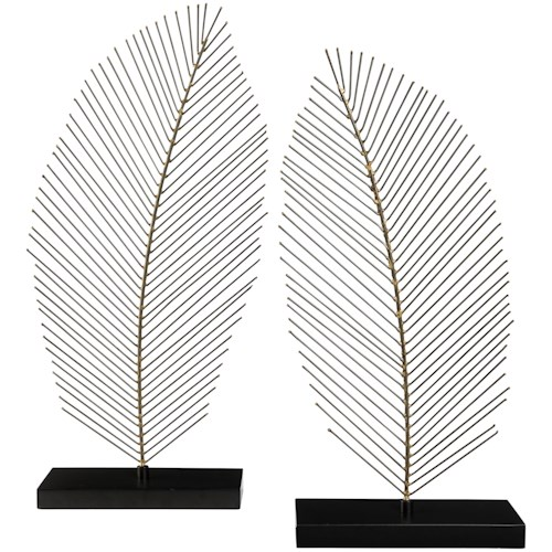 Signature Design by Ashley Accents Eleutheria Gray/Black Sculpture Set