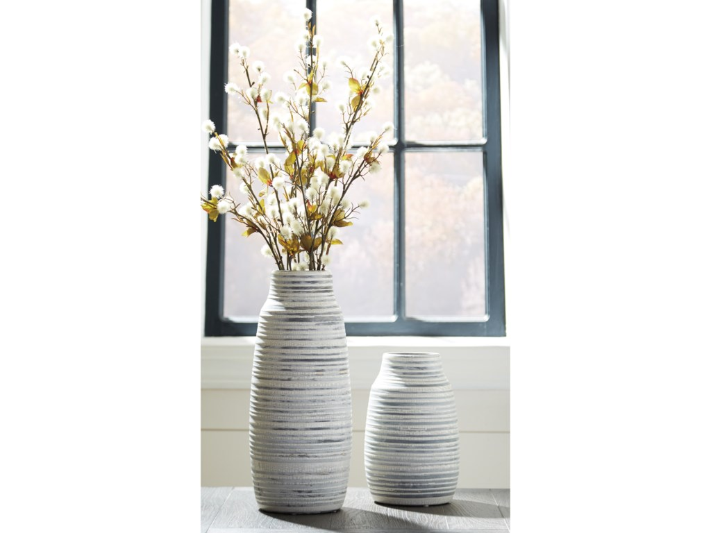 Ashley Signature Design AccentsDonaver Gray/White Vase Set