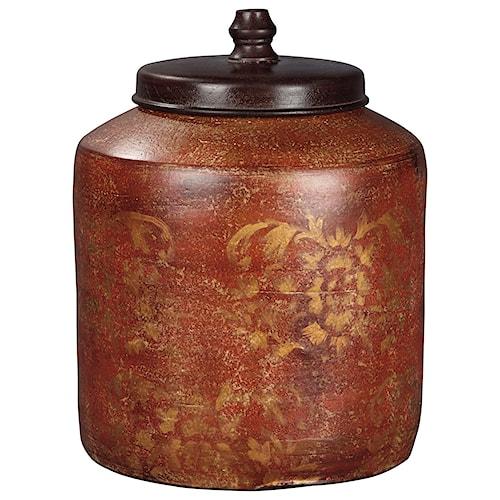 Signature Design by Ashley Accents Odalis Orange/Tan Jar