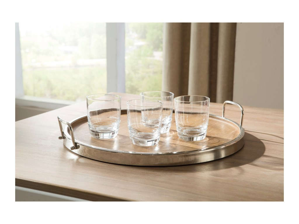 Signature Design by Ashley AccentsOctavian Natural/Silver Finish Tray