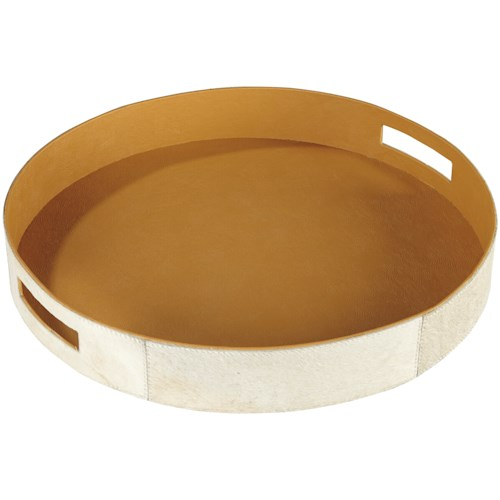 Signature Design by Ashley Accents Odeda Beige Tray