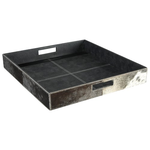 Signature Design by Ashley Furniture Accents Odeda Black Tray