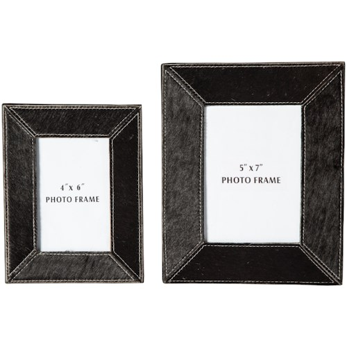 Signature Design by Ashley Accents Odeda Black Photo Frame (Set of 2)
