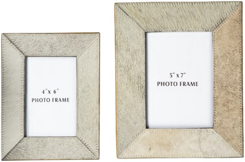Signature Design by Ashley Accents Odeda Beige Photo Frame (Set of 2)