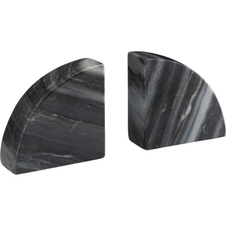 Set of 2 Josetta Gray Marble Bookends