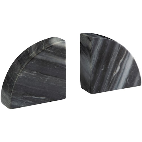 Signature Design by Ashley Accents Set of 2 Josetta Gray Marble Bookends