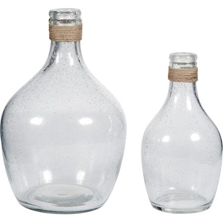 Marcin Clear Glass Vase Set