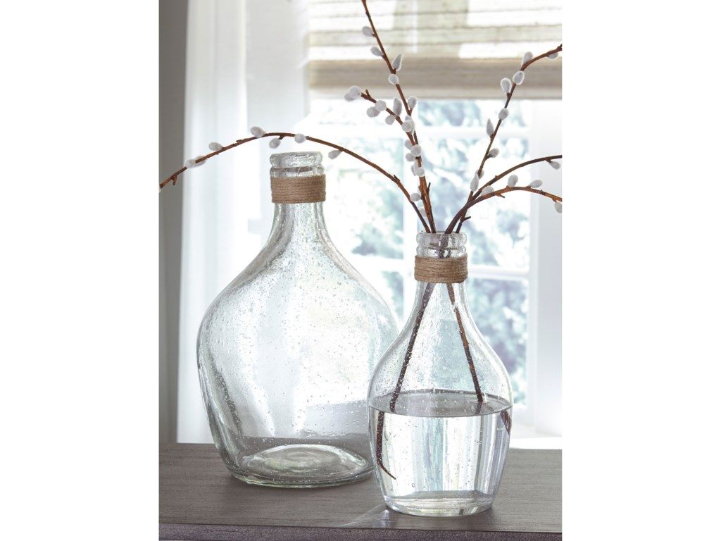 Ashley (Signature Design) AccentsMarcin Clear Glass Vase Set