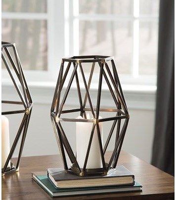 Signature Design by Ashley Accents Devo Small Candle Holder