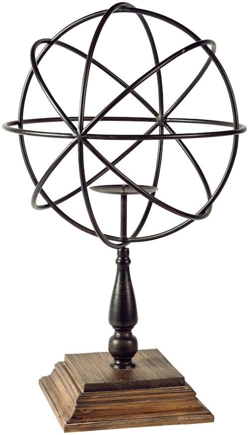 Signature Design by Ashley Accents Devlin Bronze Finish Candle Holder