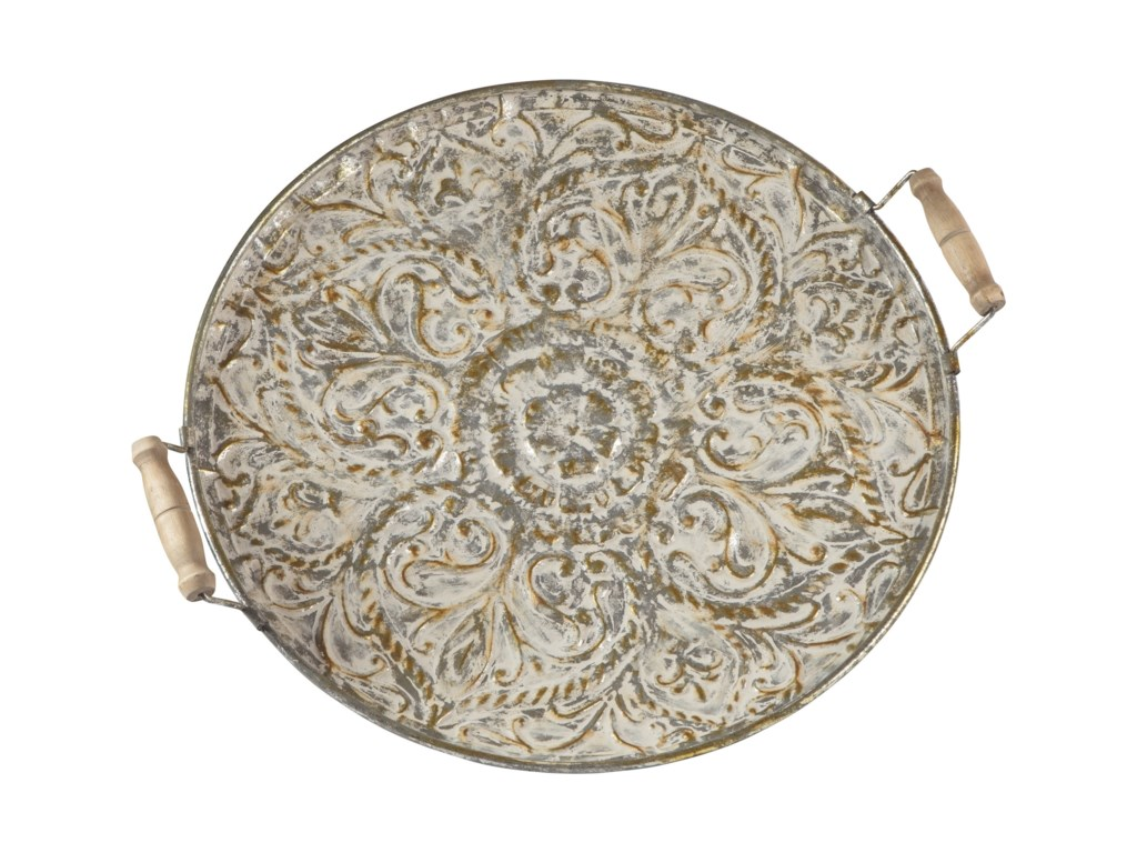 Ashley Signature Design AccentsDidina Cream/Gold Finish Tray