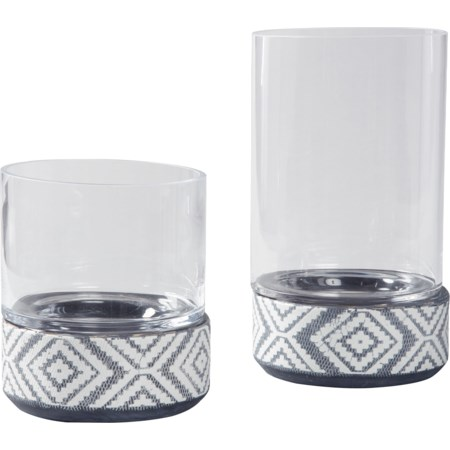 Dornitilla Black/White Candle Holder Set