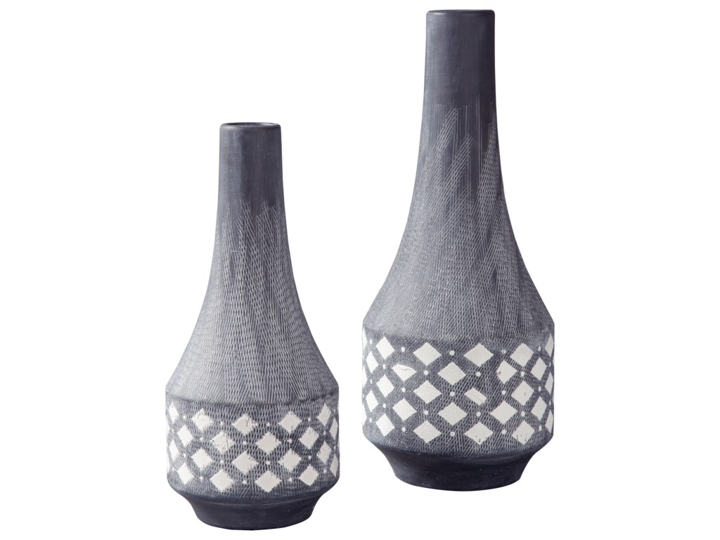 Signature Design by Ashley AccentsDornitilla Black/White Vase Set