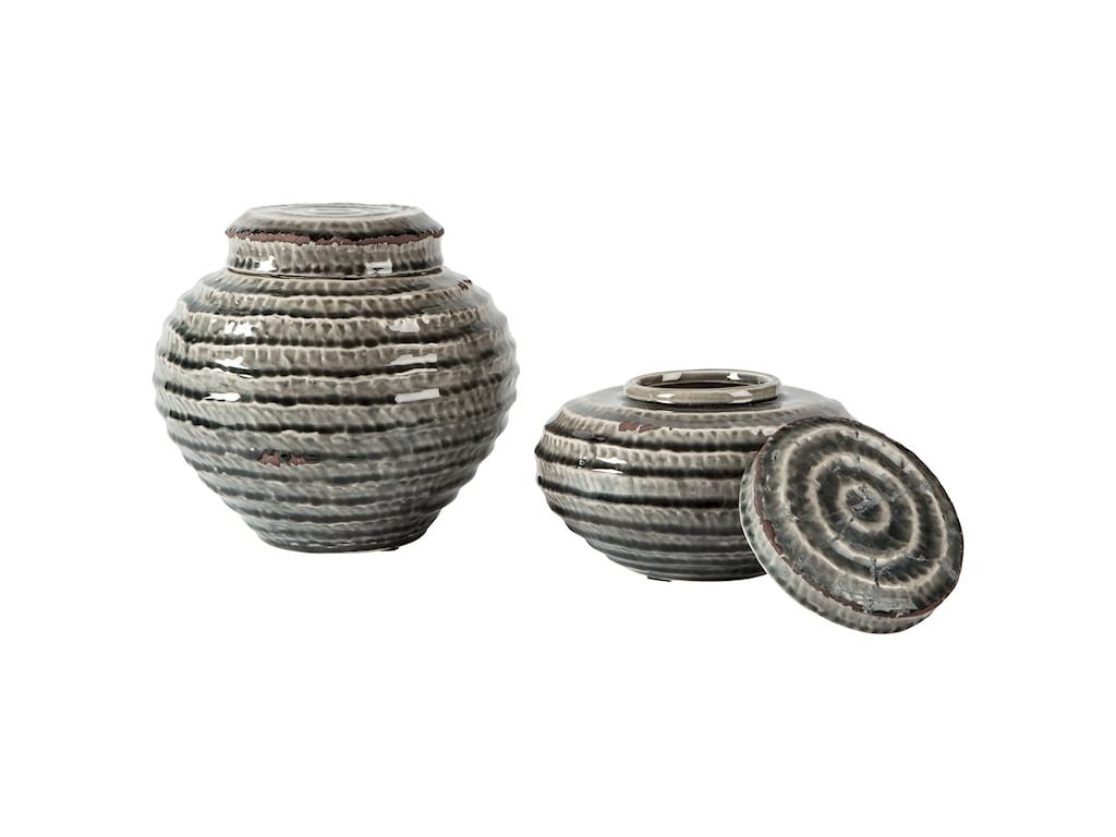 StyleLine AccentsDevonee Antique Gray Jar Set
