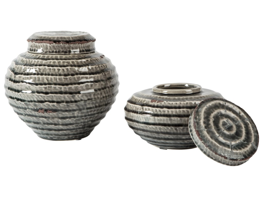 Ashley (Signature Design) AccentsDevonee Antique Gray Jar Set