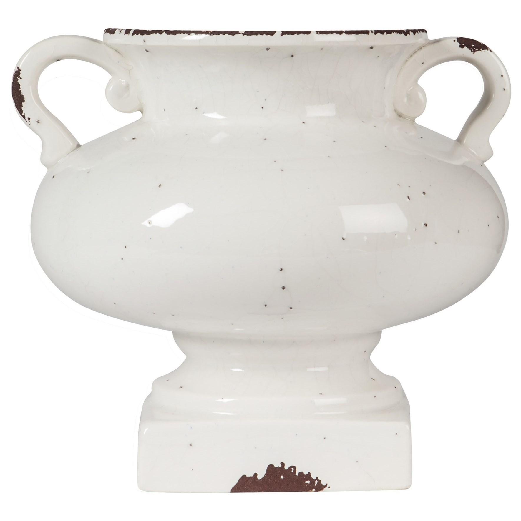 Diedra Antique White Urn