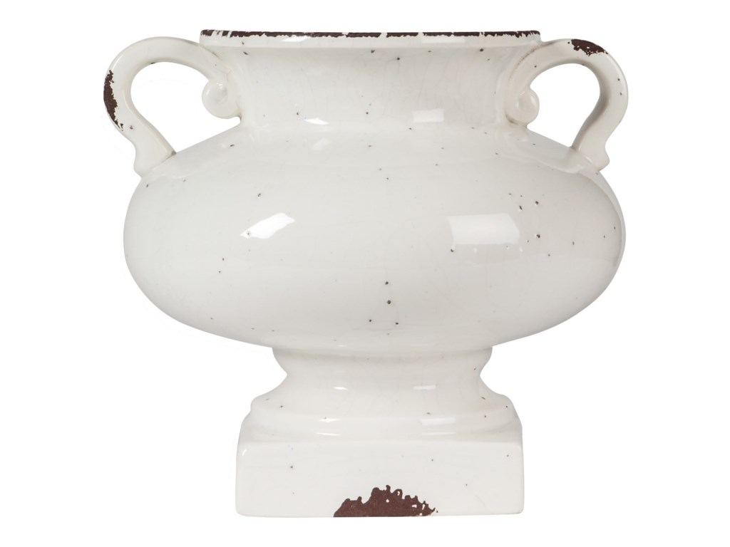 Signature Design AccentsDiedra Antique White Urn