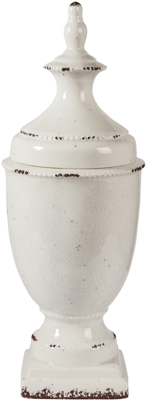 Signature Design by Ashley Accents Devorit Antique White Jar