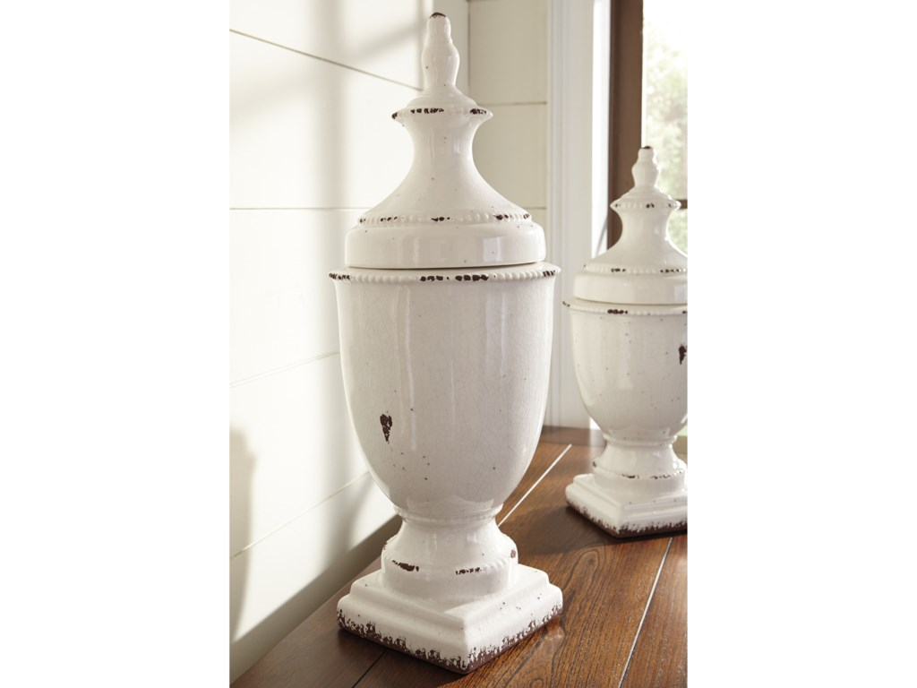 Ashley (Signature Design) AccentsDevorit Antique White Jar