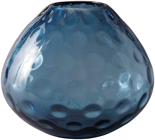Signature Design by Ashley Accents Devanand Blue Vase