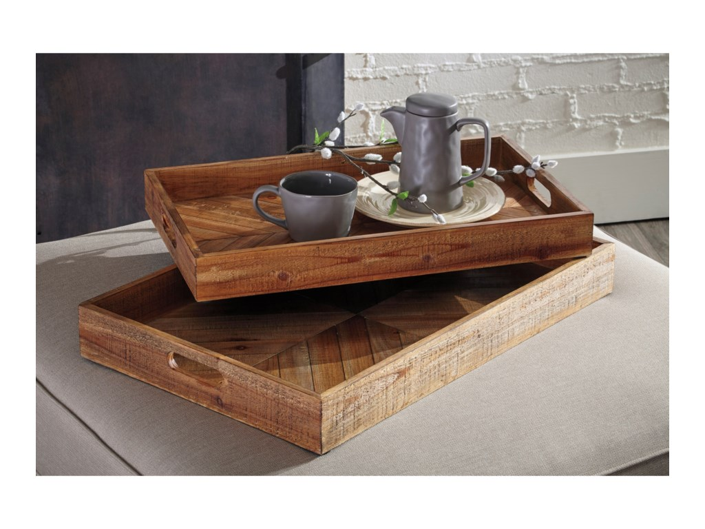 Signature Design by Ashley AccentsDewitt Brown Tray Set